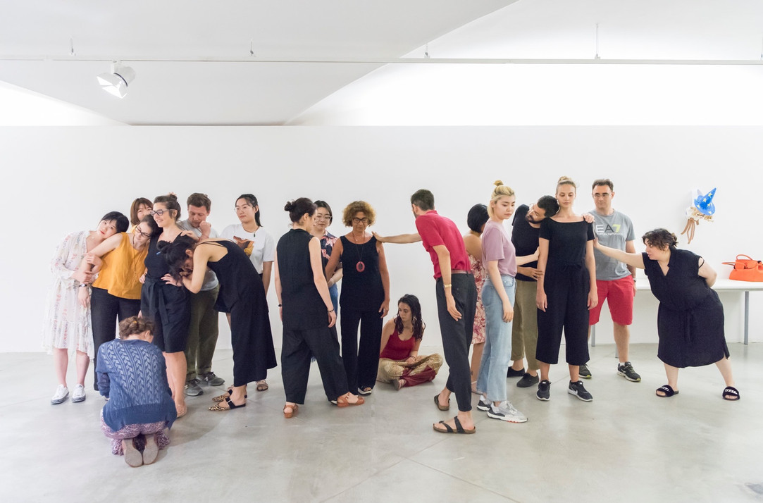 Participants participate in workshops organized by the Palazzo Strozzi Foundation