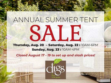 Digs Annual Summer Tent Sale