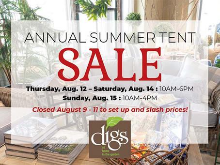 Annual Summer Tent Sale!