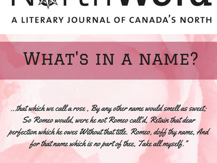 Issue #13 - What's In a Name?