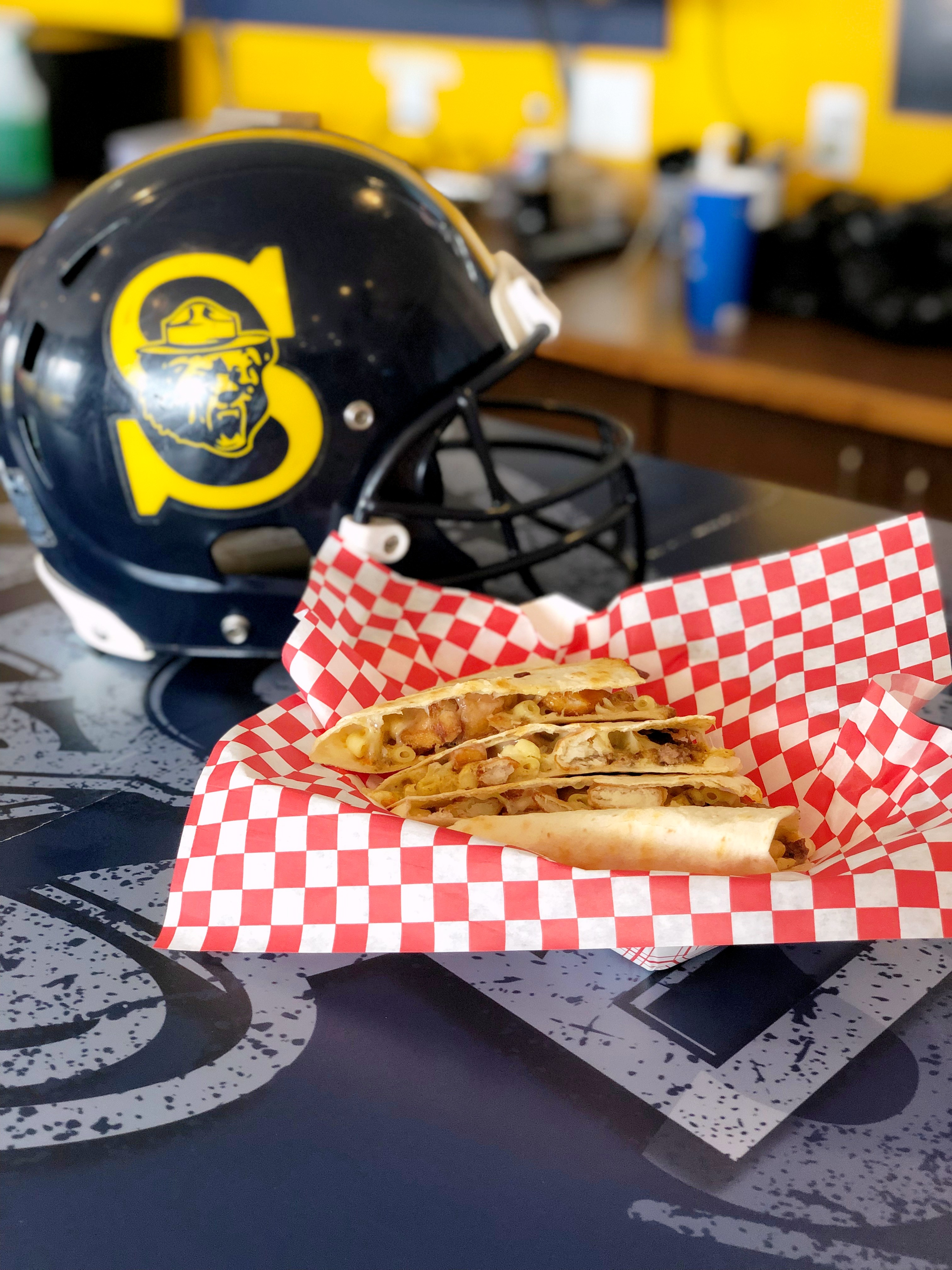 Helmet Quesadillas