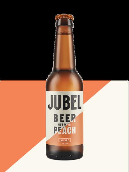 Jubel Beer cut with Peach
