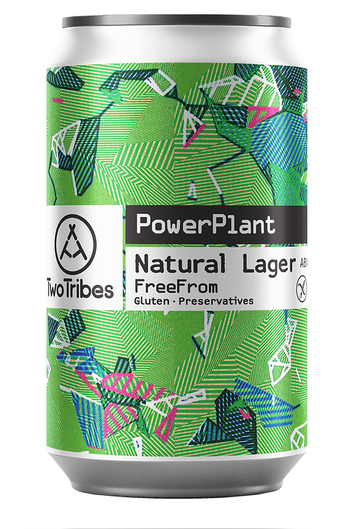 Two Tribes PowerPlant Natural Lager 330ml can