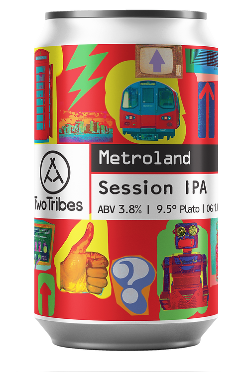 Two Tribes Metroland Session IPA 330ml can