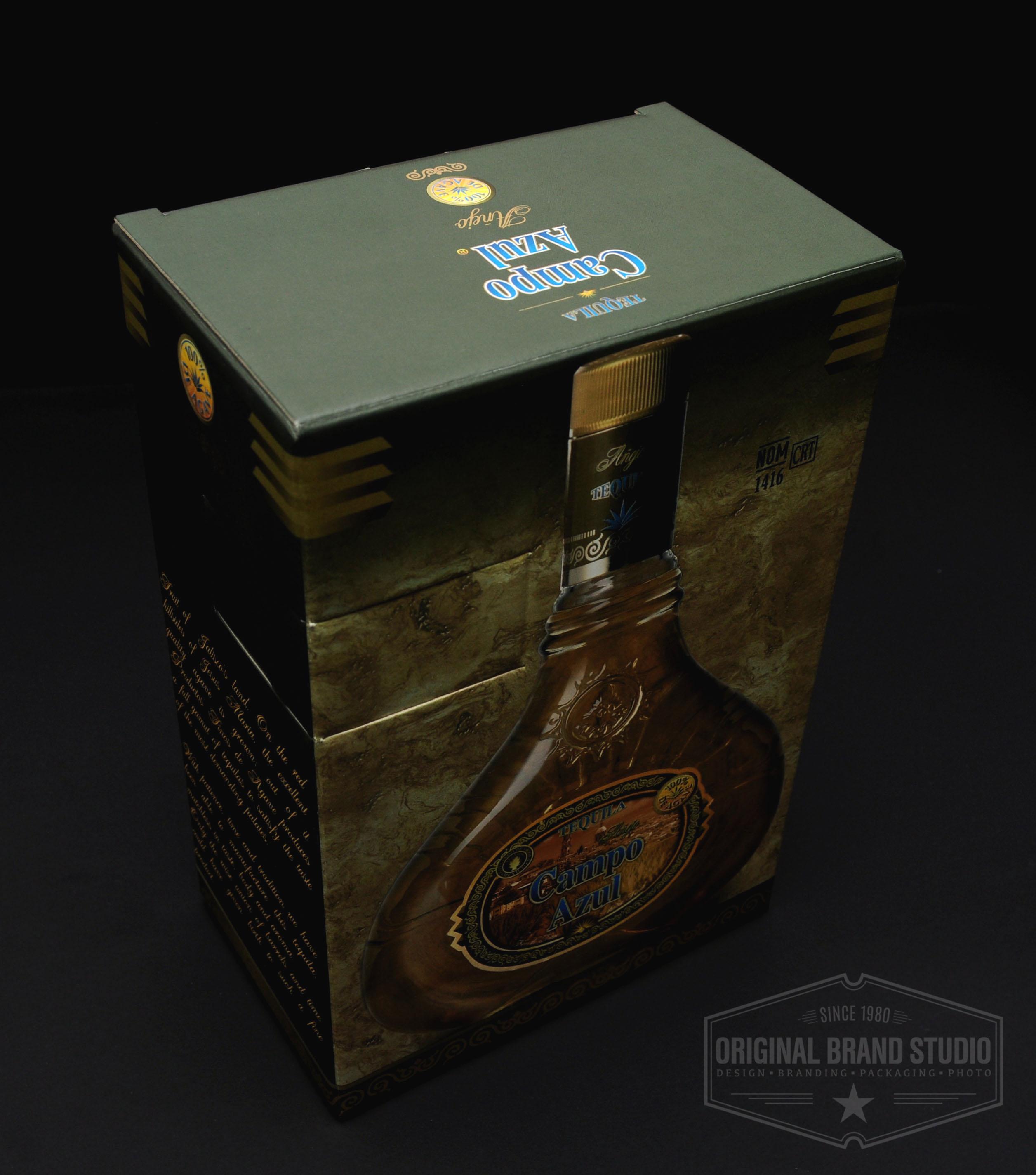 Diseño Empaque Tequila Campo Azul