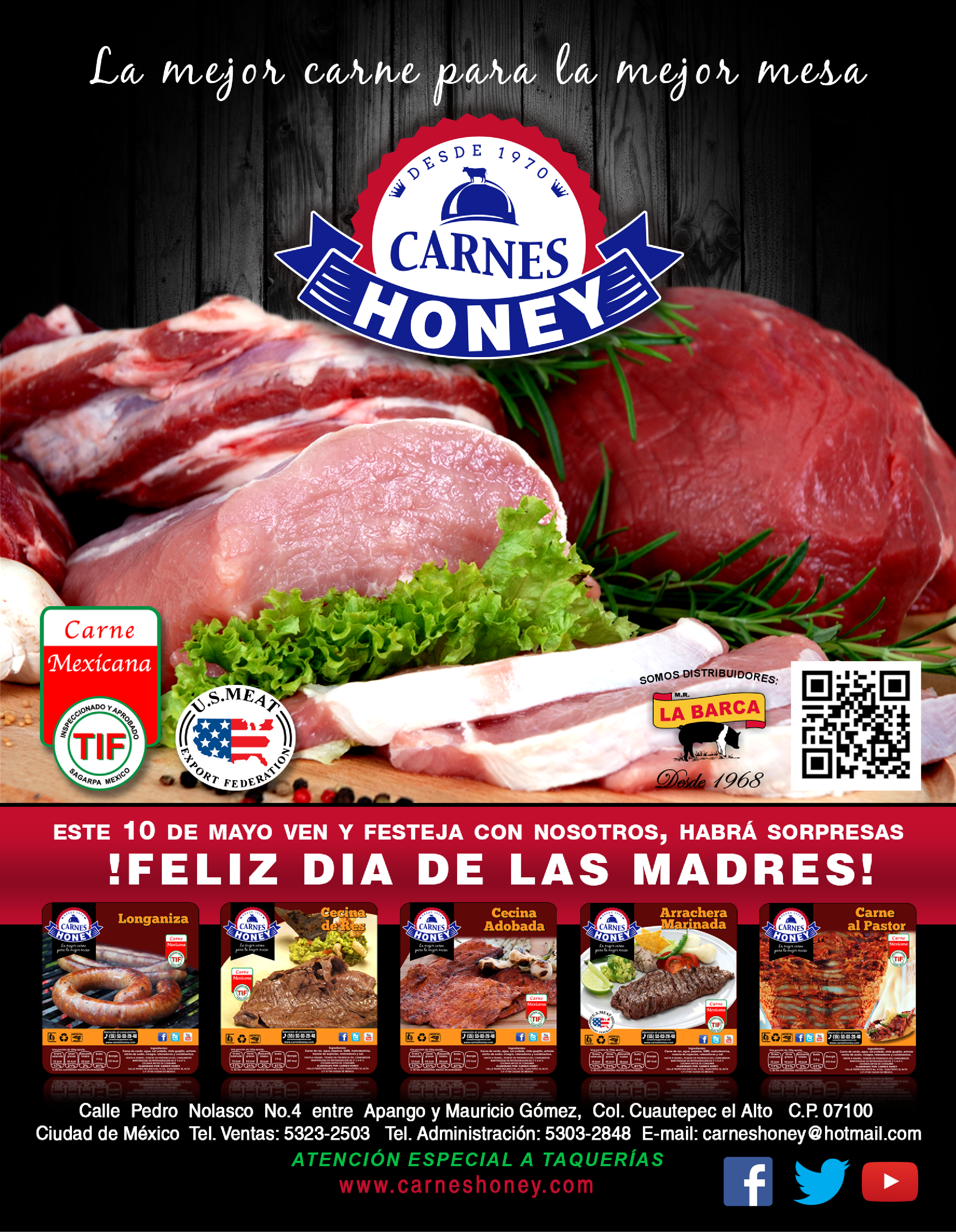 Poster Carnes Honey