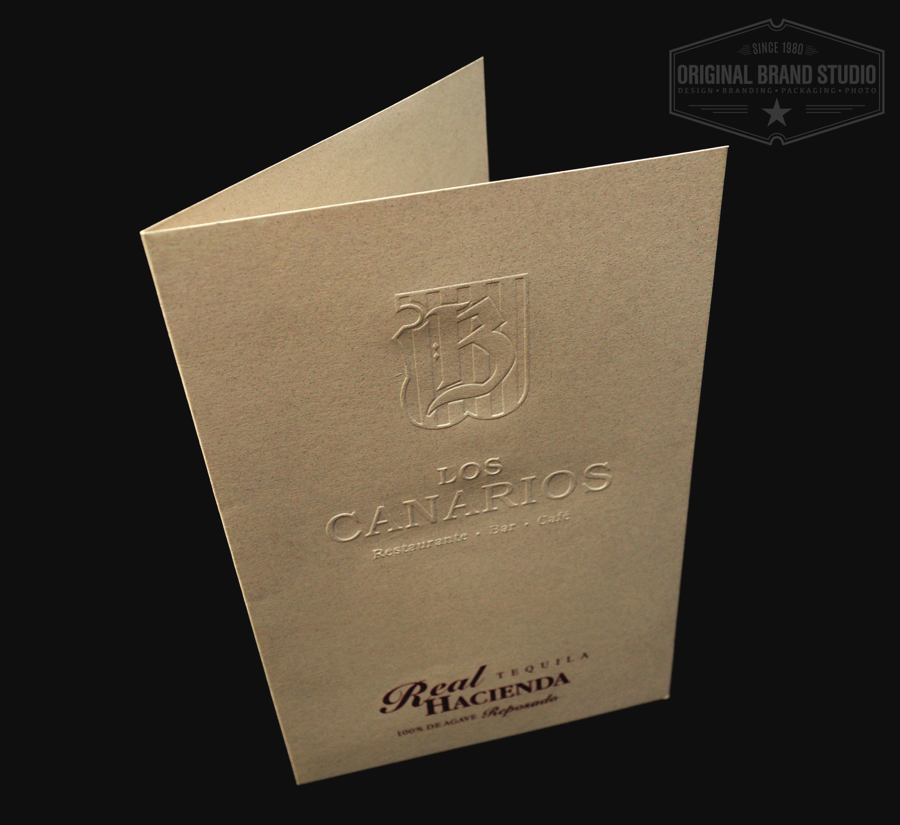 Diseño Carta Restaurant Los Canarios