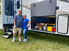 M & H and Wally (the dog) are return customers. We enlarged their original system so they now have 2600 watts of solar, a 3000 watt inverter and 600 amp hours of Battle Born batteries.  August 2021