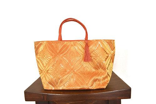 Gold Silk Kimono Obi Tote Bag