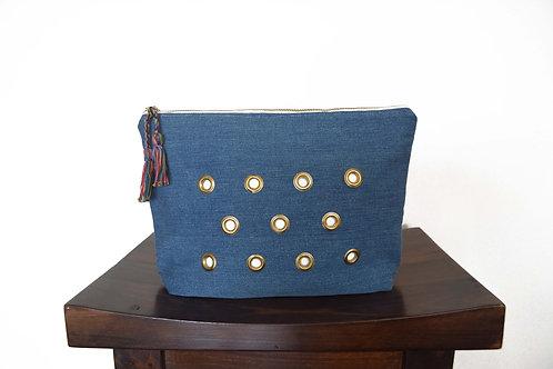 Denim Fabric Clutch Bag