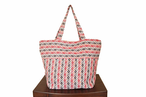 Ethnic Stripes Fabric Tote Bag