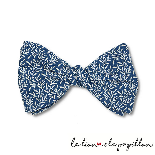 Nœud papillon Bleu Feuilles d'olivier