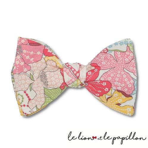 Noeud papillon Liberty Mauvey rose