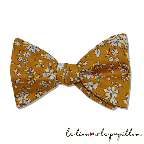 Nœud papillon Liberty capel moutarde