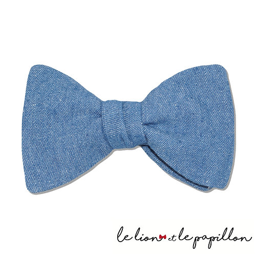Noeud papillon jean bleu