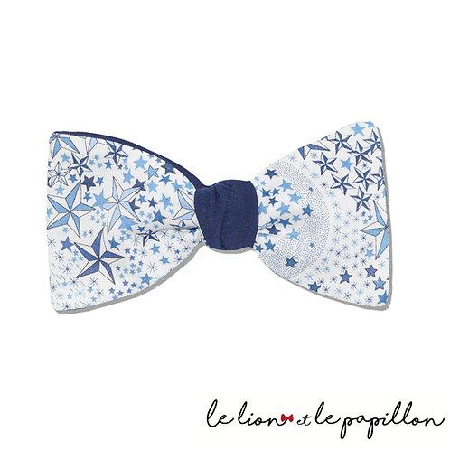 Noeud papillon slim bicolore Liberty Adeladja bleu