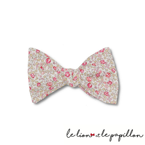 Noeud papillon Liberty Eloise rose clair