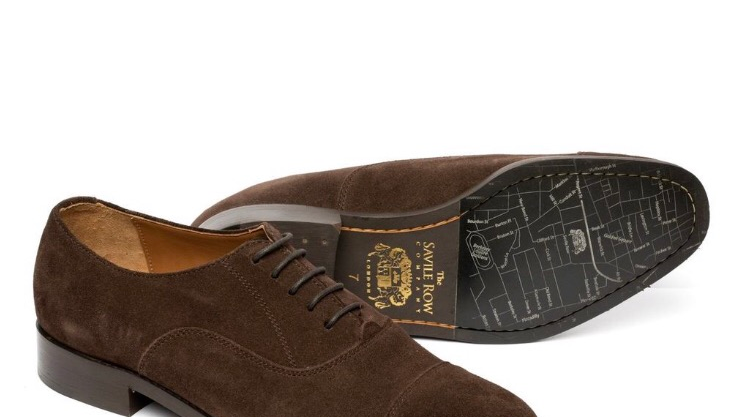 MSH752CHC CAPPED OXFORD CHOC SUEDE