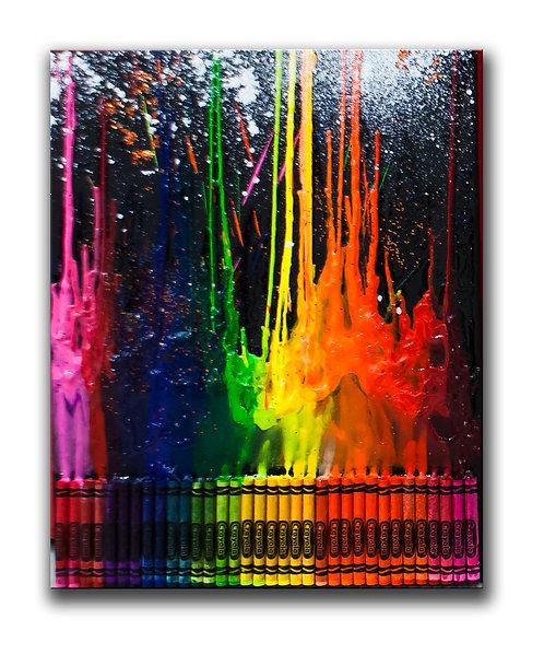 Crayon Painting Fun - Jan 31