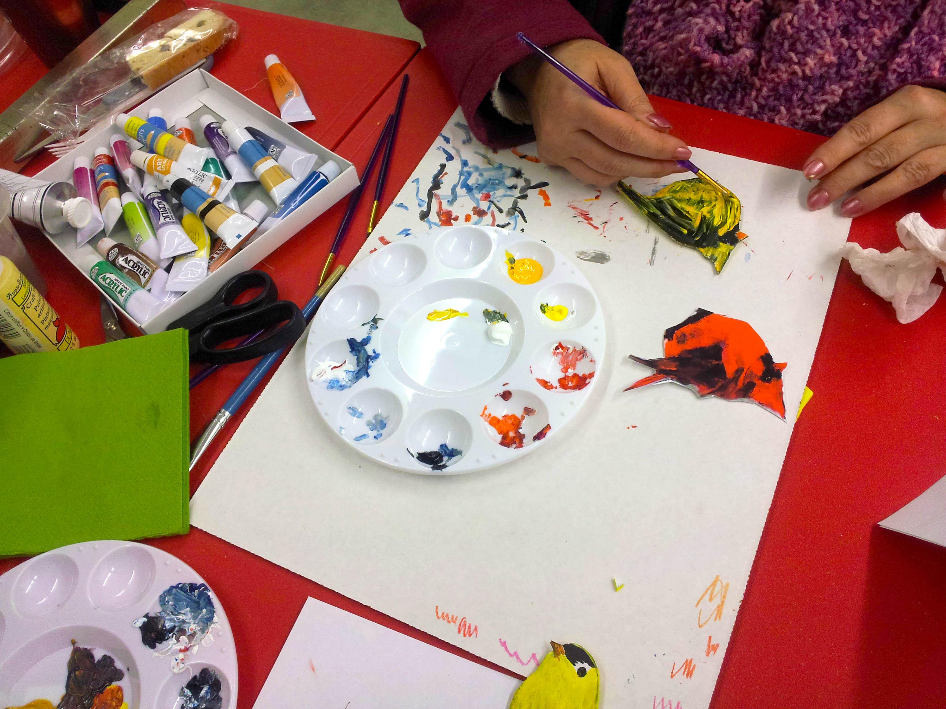 painting my birds