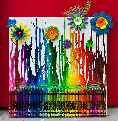 Crayon Painting  -parties of 10 or less