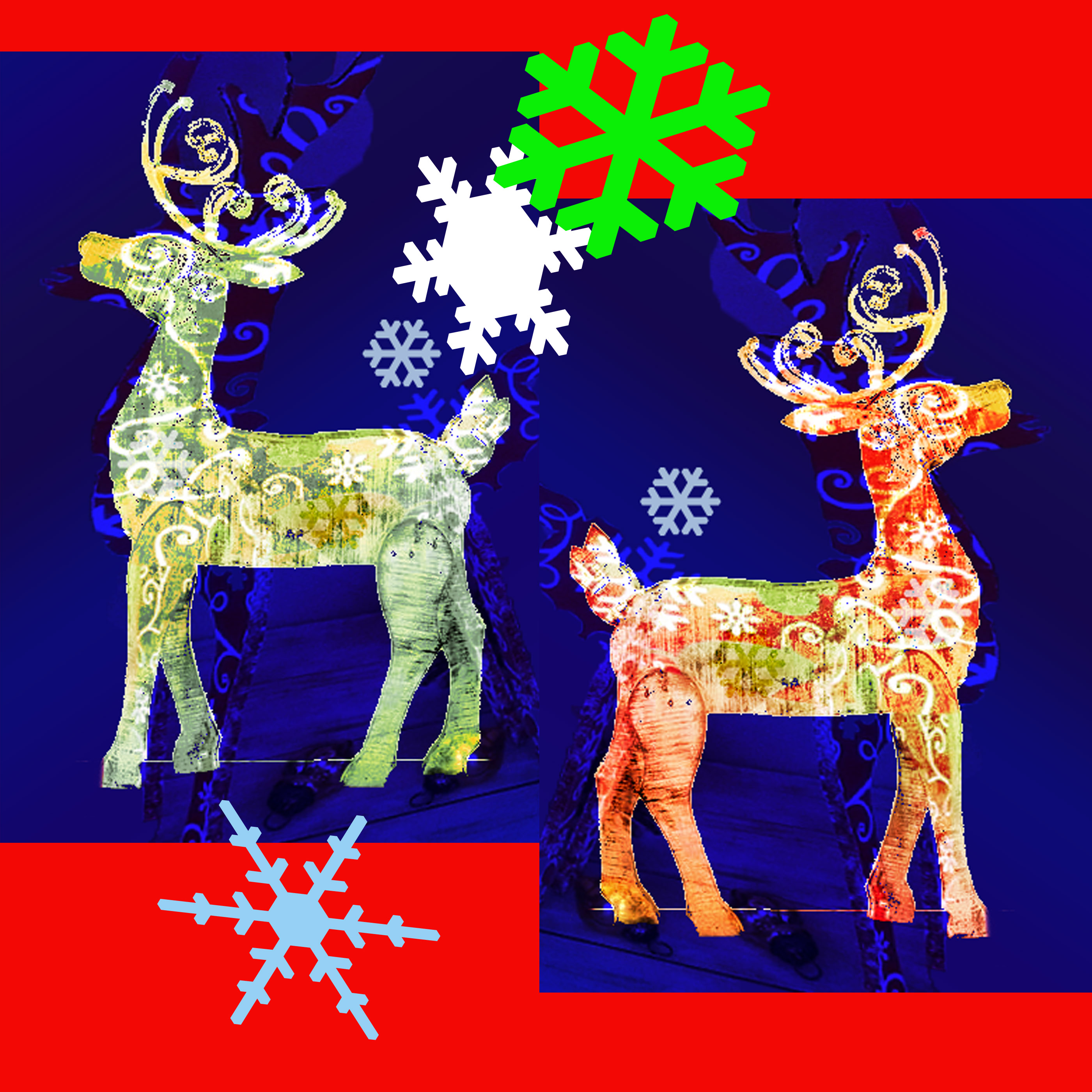 Santas workshop - painted reindeer