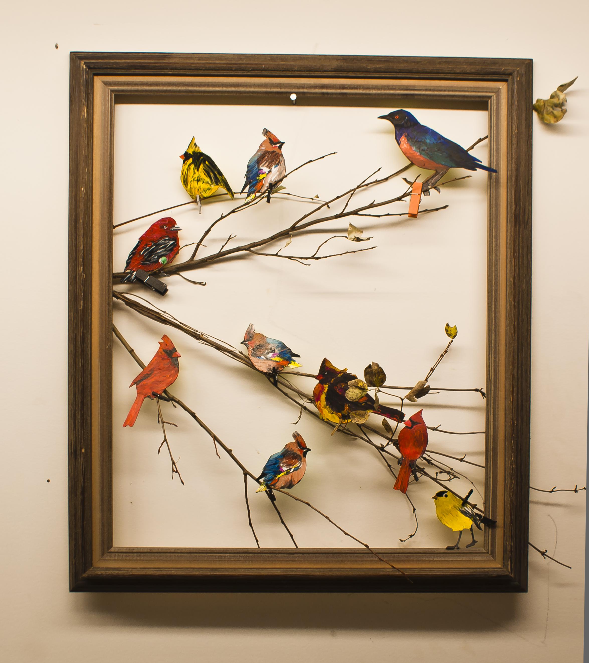 Rustic Twig Birds