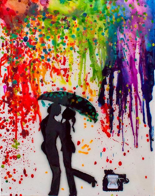 Confetti Rain  by Carol Marasco Hamilton