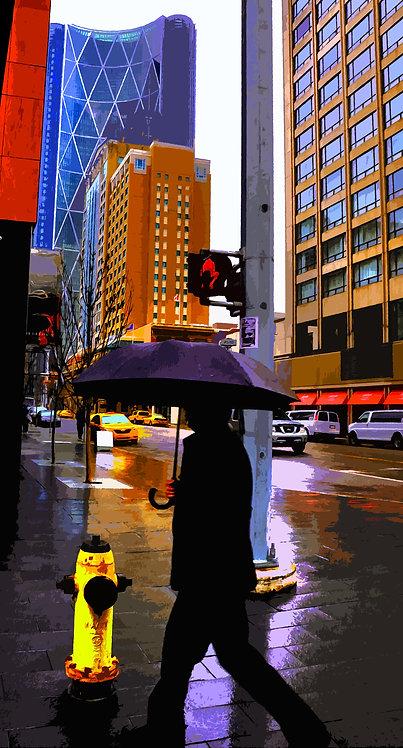 Rainy Walk to Work