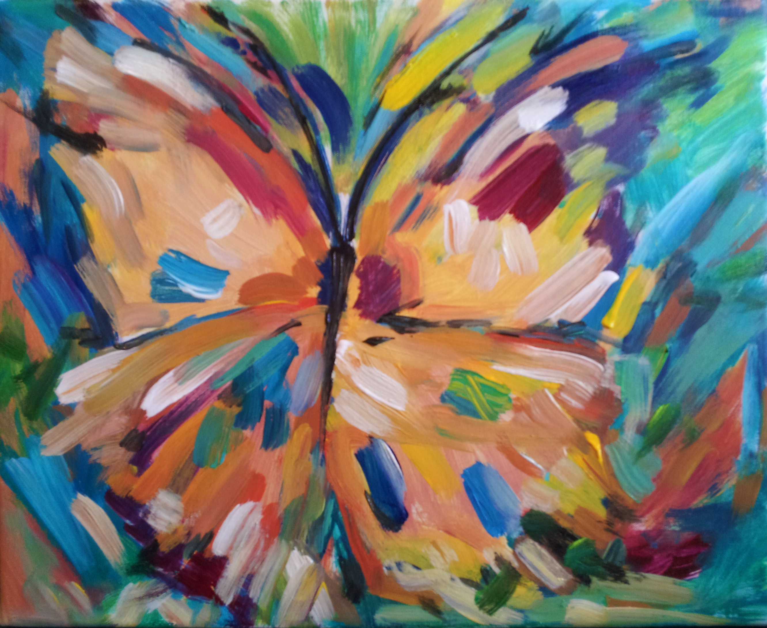 painterly butterfly