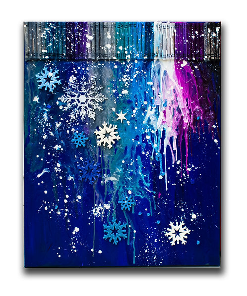 "Crayon Painting  ""SNOWFLAKES"" Groups of 10 or less"