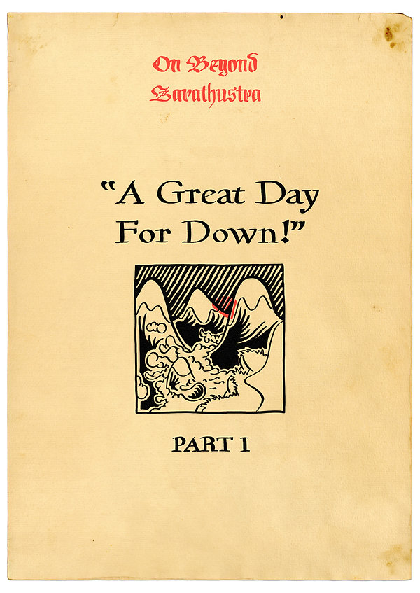 A Great Day For Down, Part I Title Page
