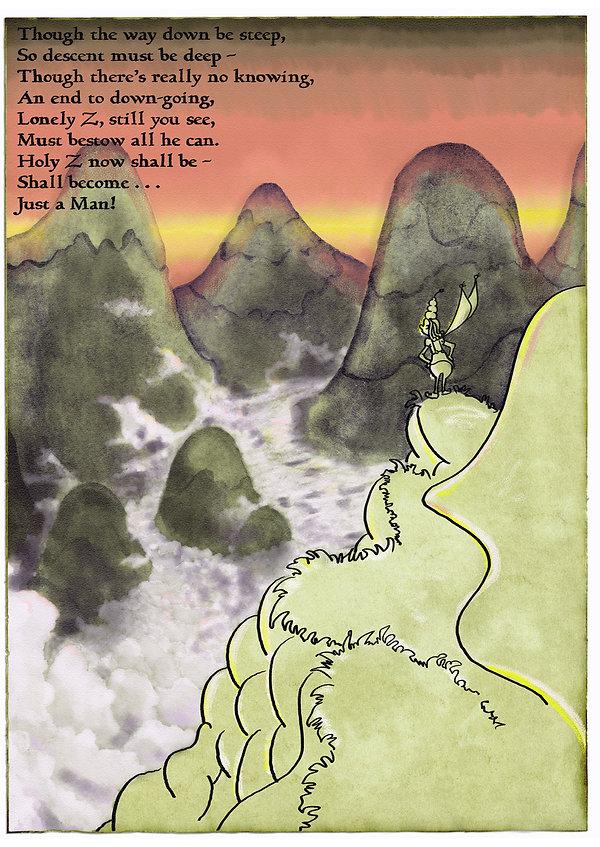 Zarathustra planning his descent.