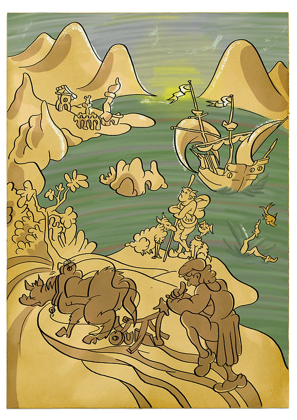 The Fall of Icarus, Seuss-style.