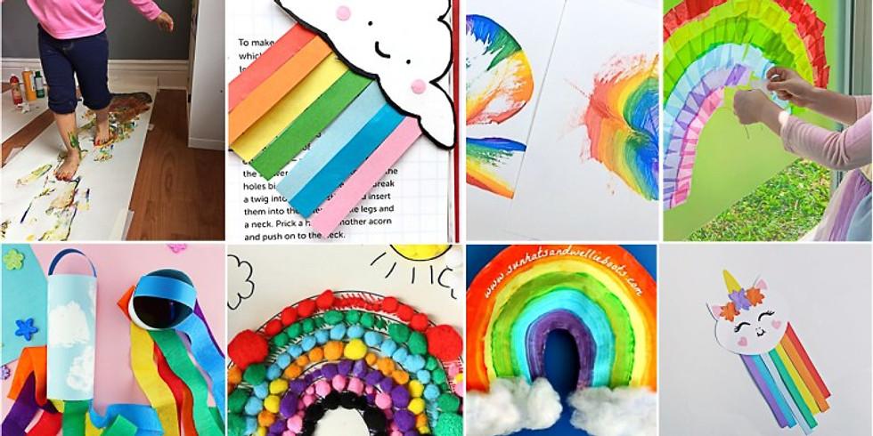 Drop off your rainbow art!