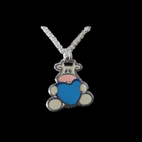 Cow holding Heart pendant