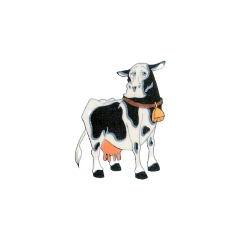 3 x Cow Party Tattoos