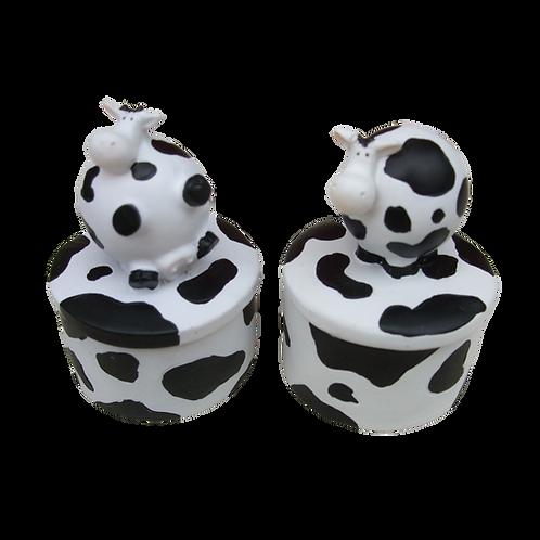 Pair of Cow Trinket Pots