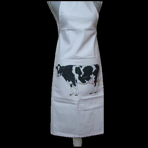 White Holstein Cow Apron