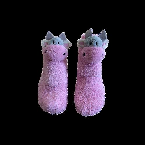 Pink Kids Cow Socks