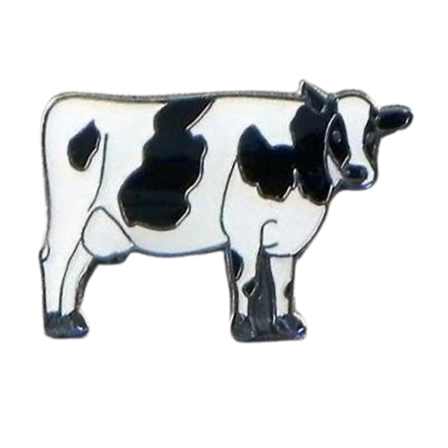 Realistic Cow pin/tie badge