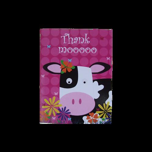 4 x Thank Mooooo Cards