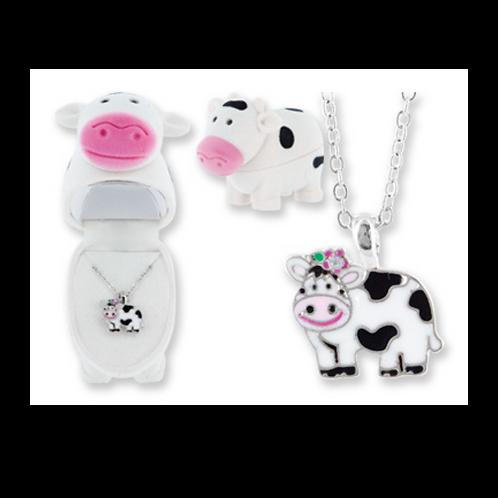 Velour Cow gift box & Pendant