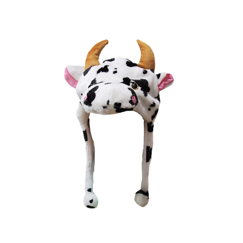 Cow Print hat/scarf with Horns