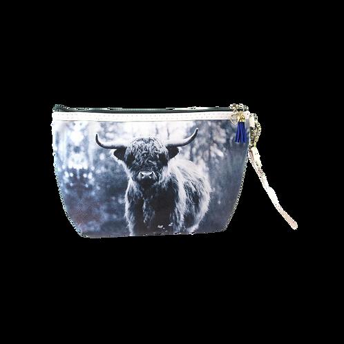 Highland Cow Wash/Makeup bag
