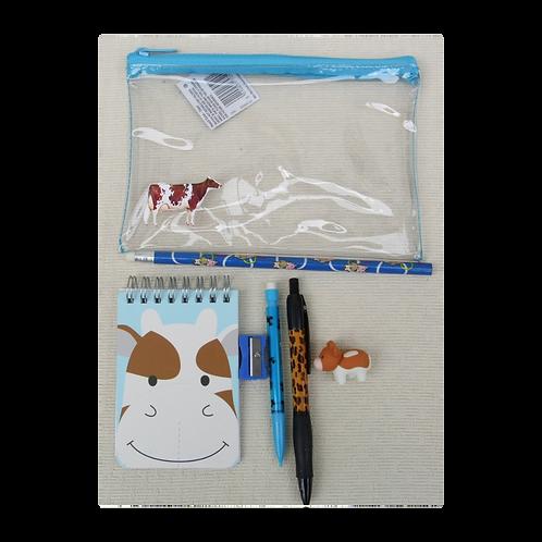Brown Cow pencil case set