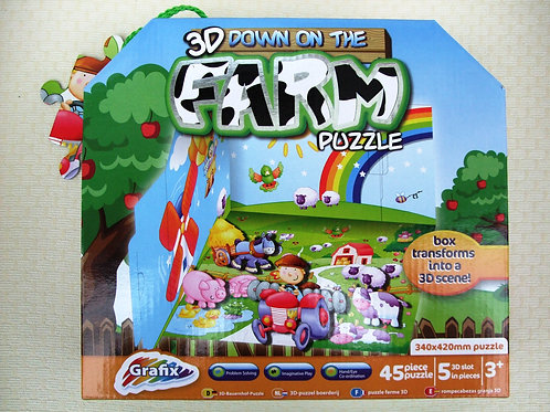 3D Down on the Farm Puzzle