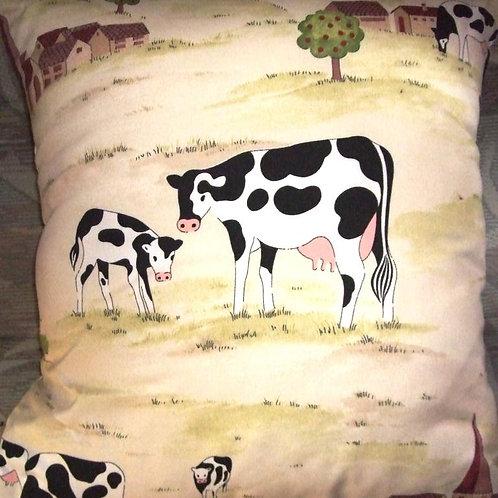 Cream Cows Cushion