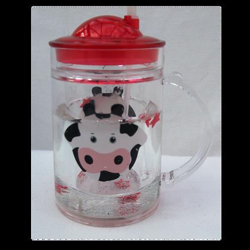 Sparkly Cow Tumbler & Straw