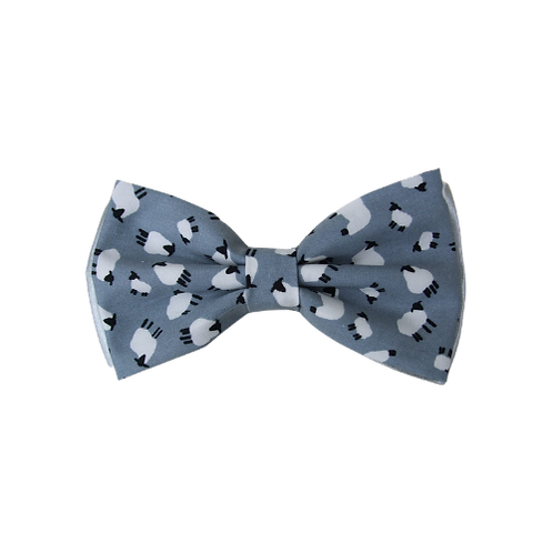Silver Sheep Bow Tie